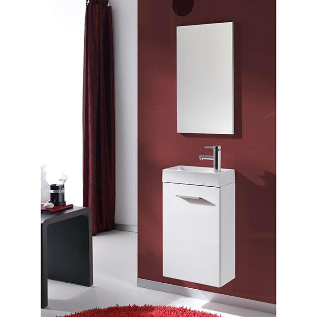 Gäste Wc Badmöbel Set Pocket Unterschrank Spiegel Bad Möbel Waschbecken Becken