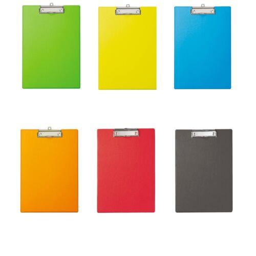 Klemmbrett Schreibplatte Clipboard Schreibbrett A4 Folienüberzug od Polypropylen