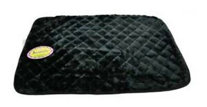 Dreamzone-Plush-DOG-CRATE-MAT-Bed-BLACK-49-034-x-30-034