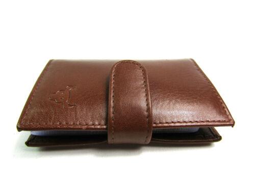 Da Uomo Qualità Premium vera morbida marrone in pelle a portafoglio credito titolare SCATOLA REGALO