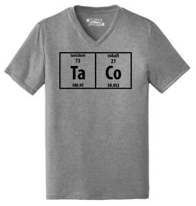 355fd791422 Image is loading Mens-Taco-Periodic-Table-Funny-Science-Shirt-Geek-