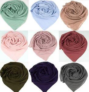 Top-Quality-Cotton-Large-Plain-Scarf-Hijab-Shawl-Sarong-Wrap-Maxi-Big-Long-Warm