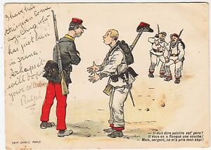SOLDIER amp SERGEANT  Father a Painter   Camis  Paris  1902 used postcard - <span itemprop=availableAtOrFrom>Lincoln, United Kingdom</span> - SOLDIER amp SERGEANT  Father a Painter   Camis  Paris  1902 used postcard - Lincoln, United Kingdom