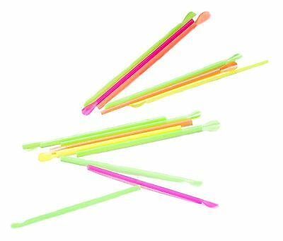 Snow Cone Spoon Straws  400 count unwrapped neon colors 8 inches long