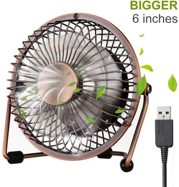 Ventilatore USB per PC Desktop Notebook Portatile Girevole Metallo Dia 13cm hsb