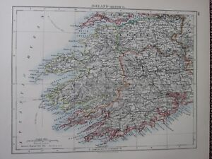 1897 Victorian Map Ireland South West Kerry Cork Limerick Ebay