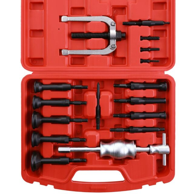 Extractor Remover Bearing Puller Set 16Pcs Blind Hole Pilot Internal with Case