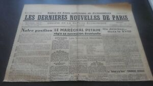 JOURNAL-LES-DERNIERES-NOUVELLES-DE-PARIS-N-25-DIMANCHE-14-JUILLET-1940-ABE