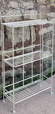 Shabby & Chic Cream Metal 3 Shelf Shelves Rack Bathroom Kitchen Bedroom Storage