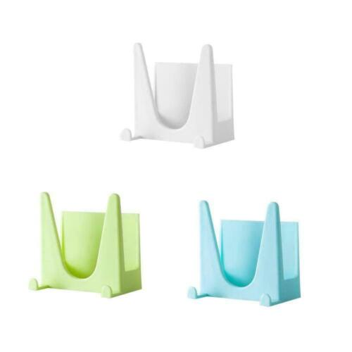 Wall Hanger Plastic Pot Holder Kitchen Cover Oil Hanging Storage Rack L2S7