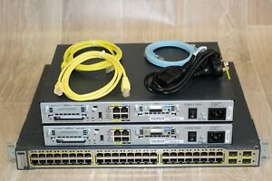 Details about Cisco CCNA CCNP CCIE Basic Lab Kit with  CISCO1841,WS-C3750-48PS-S L3 Guiding DVD