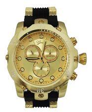 Gold Mens Watch Geneva Metal Oversized Boyfriend Designer Fashion Sport