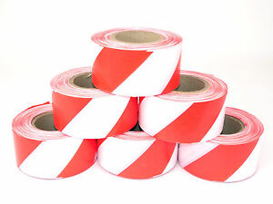 Warnband rot weiß 75 mm x 100 m Absperrband 7,5 cm 100 m Absperrung