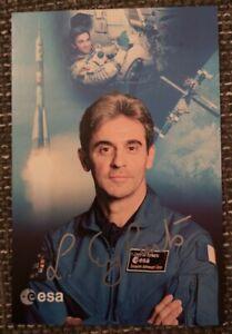 Leopold Eyharts original signierte Autogrammkarte,autograph,Astronaut,Esa, Mir