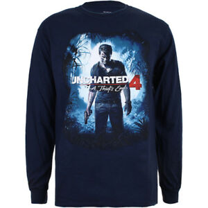 Uncharted-4-A-Thief-039-s-End-Cover-Official-Mens-Long-Sleeve-T-Shirt