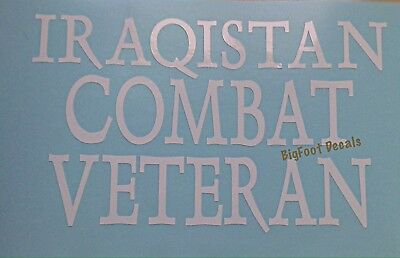 I Survived Iraq Veteran Military Decal Car Truck Jeep Wall Vinyl Window Sticker
