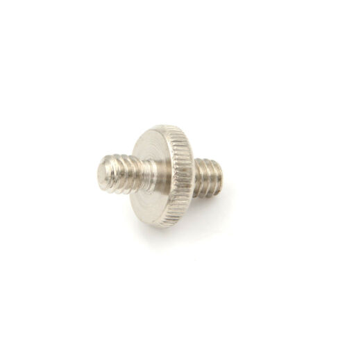 2x 1//4/'/' Male to 1//4/'/' Male Threaded Screw Adapter For Tripod Mount Holder Ho~GN
