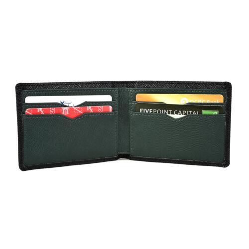 Multi Card Minimalist Slim Leather Mens Bifold Wallet