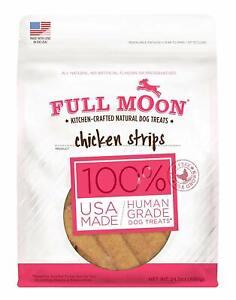 Full-Moon-All-Natural-Human-Grade-Dog-Treats-Chicken-Strips-Grain-Free-24-Oz-New