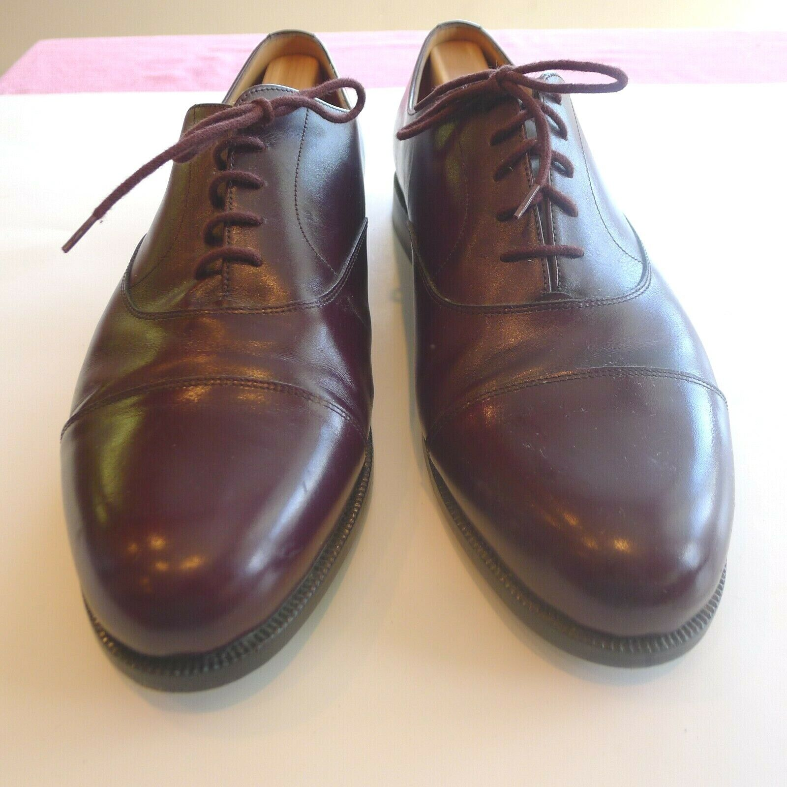Bally Men's Cap Toe Lace Up 11E Burgundy