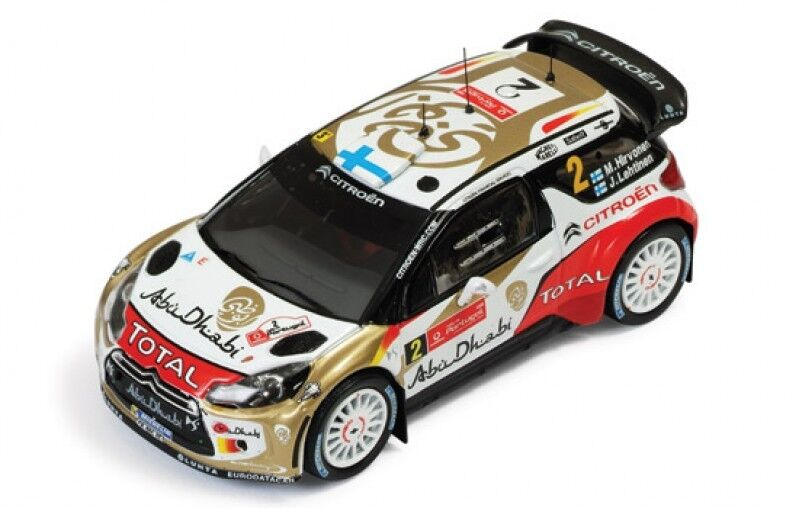 1 43 CITROEN DS3 WRC Total Abu Dhabi Rally Portugal 2013 M. Hirvonen