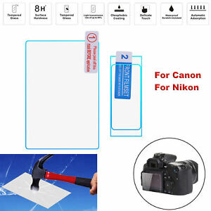 8H-LCD-Protective-Tempered-Glass-Screen-Protector-Film-for-Canon-Nikon-Camera