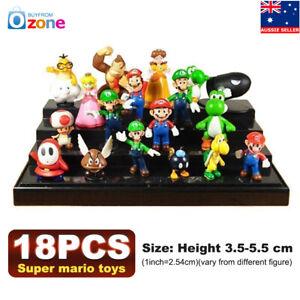 18pcs-Set-Super-Mario-Bros-Action-Figures-Kids-Toy-Cake-Topper-Figurines-Decor