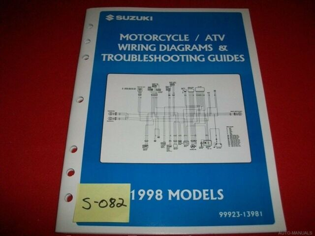 Suzuki Motorcycle  U0026 Atv Wiring Diagram  U0026 T  S Manual 1998