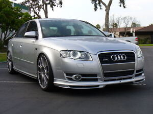audi a4 b7 abt look front bumper spoiler splitter lip. Black Bedroom Furniture Sets. Home Design Ideas