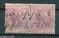 ITALIE - Timbres FISCAUX, MARCA DA BOLLO CENTESIMI CINQUE, oblitéré