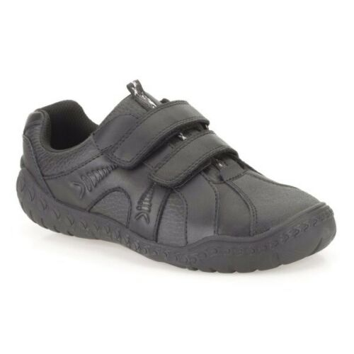 Size 12-2.5 Clarks Boys School Shoes Stomp Roar Fuzzle Pop Black leather