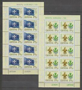 S36895 Lietuva Lithuania Europa Cept MNH 2007 MSx2 Scout Baden Powel