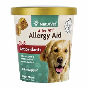 NaturVet ALLERGY AID Antioxidants Support Immune Soft Chew Dog 70ct Cup