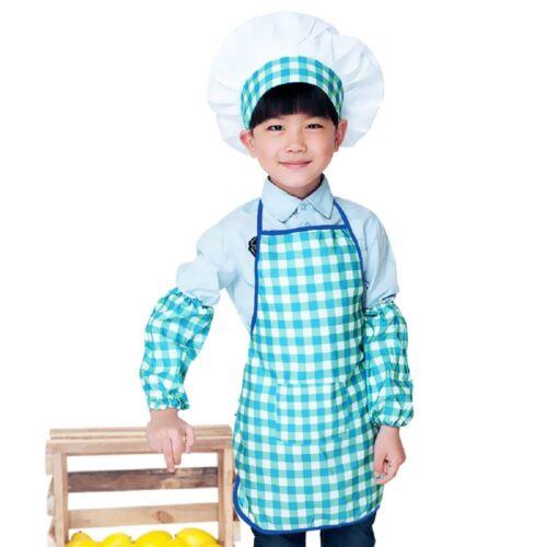Cuffs Set Kids DIY Craft Cooking Baking Painting Baby Children Apron+Chef Hat