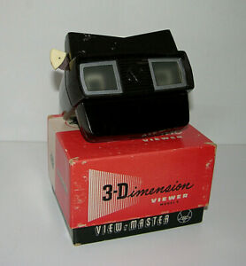Vintage-View-Master-3D-Viewer-Model-E-With-Original-Box-1950-039-s-View-Master