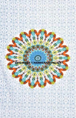 Indian Mandala Bed Sheet Bedding Cotton Twin Size Bedspread Handmade Bedding Set