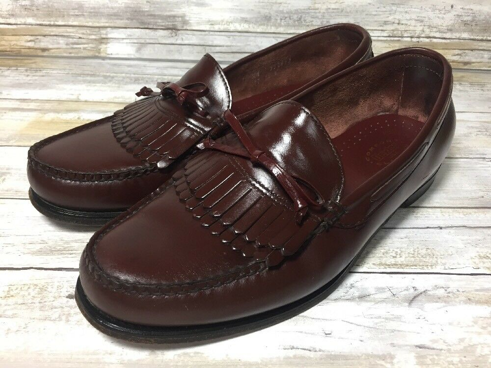 Dexter Men's Kiltie Loafer shoes Slip On Burgundy Comfort Classics Size 10 WW