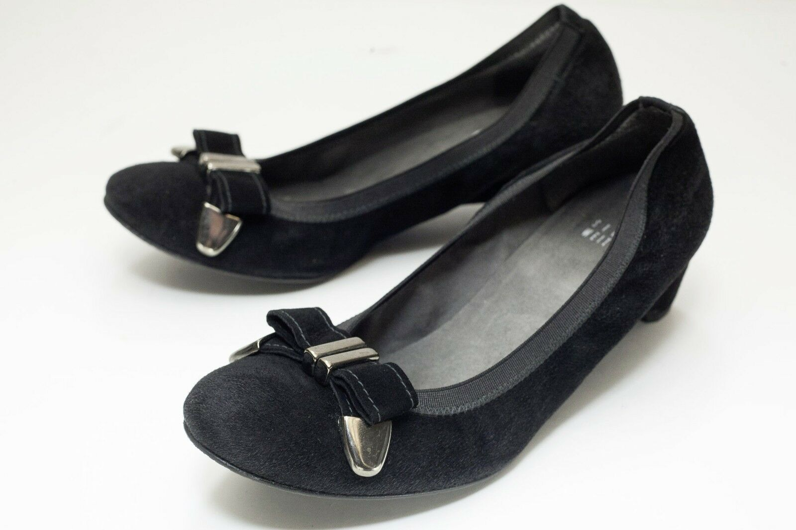 Stuart Weitzman 7 Black Ballet Slip On shoes Women's