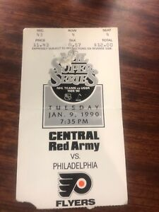 1990-USSR-CENTRAL-RED-ARMY-PHILADELPHIA-FLYERS-TICKET-STUB-NHL-SUPER-SERIES