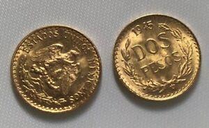 ESTADOS-UNIDOS-MEXICANOS-1945-Dos-Peso-2-Mexican-Peso-90-Gold-Coin-1-66g