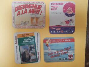 4  oude  VILTJES  STELLA ARTOIS                                 //