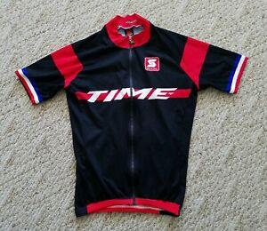 Temps-Homme-SQUADRA-Cyclisme-Jersey-Couleur-Noir-Taille-Small-S-TIME-Pedales-Velo