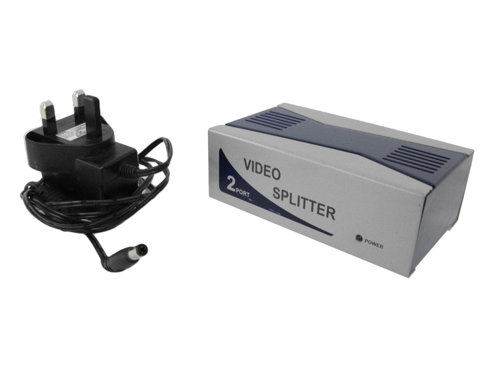 Videk Video Splitter - 2 Port - 250/350MHz