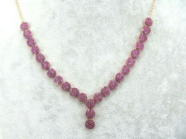 Turkish Handmade Jewelry 925 Sterling Silver Ruby Stone Women Necklace