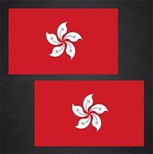 2 Hong Kong Flag Decals Stickers