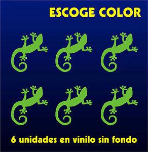 6-X-PEGATINAS-Sticker-Vinilo-Lagartija-Lizard-Aufkleber-Vinyl-Iphone