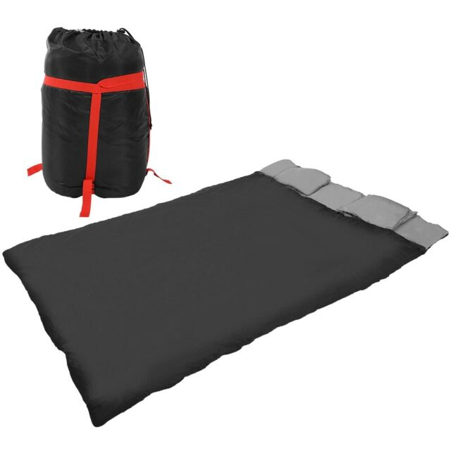 2 In 1 Double Person Sleeping Bag With Two Pillows For S Camping Backpack