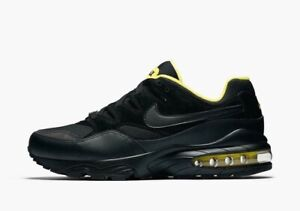 Details about NIKE AIR MAX 94 SE (Men's 10) BLACK TOUR YELLOW AV8197 002 Steelers