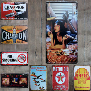 Vintage-Retro-Metal-Tin-Sign-Poster-Plaque-Wall-Home-Decor-034-Garage-Motor-Oil-034