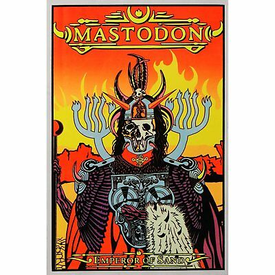 MASTODON 23X35 FLOCKED BAND 1976 MUSIC BLACKLIGHT POSTER